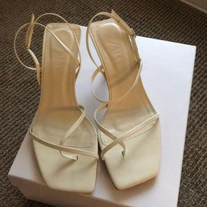 2019 Zara strappy square toe sandals
